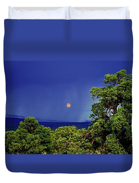 Mogollon Moon Duvet Cover