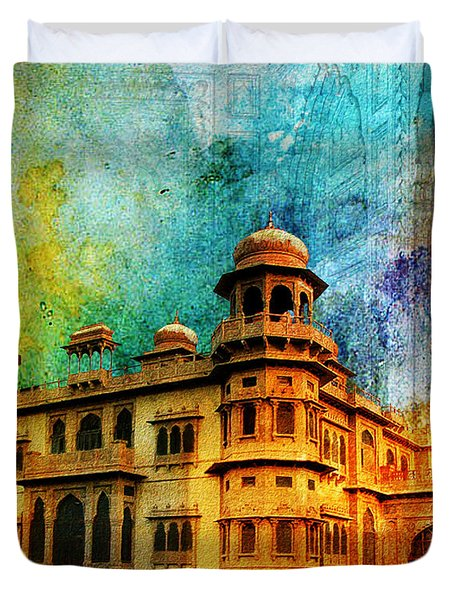 Mohatta Palace Duvet Cover by Catf
