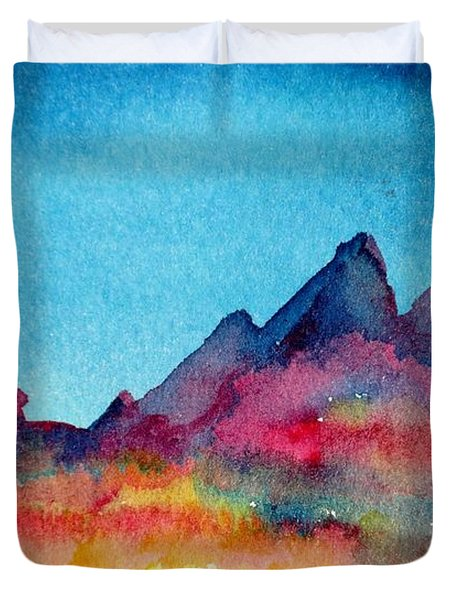 Mohave Mountains Duvet Cover