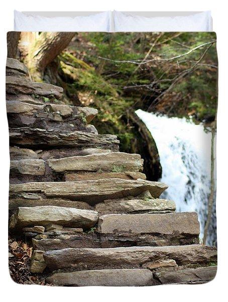 Mohawk Falls Steps Duvet Cover