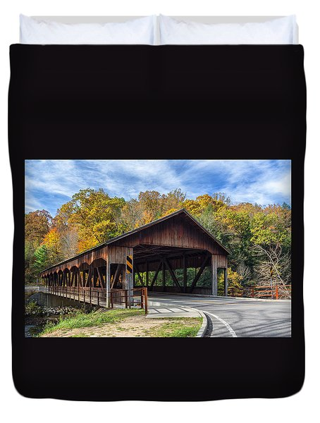 Mohican Covered Bridge Duvet Cover