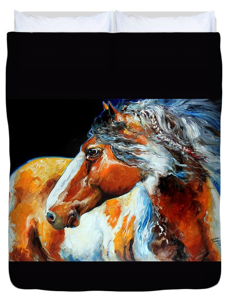 Mohican The Indian War Pony Duvet Cover