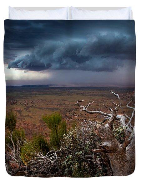 Moki Dugway Thunderstorm - Southern Utah Duvet Cover