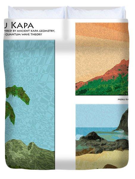 Moku Kapa Poster Duvet Cover by Kenneth Grzesik
