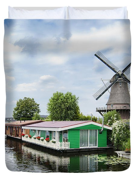 Molen Van Sloten And River Duvet Cover