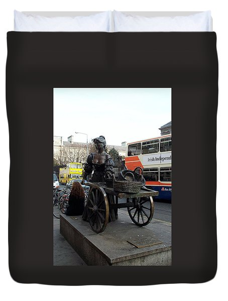 Duvet Cover featuring the photograph Molly Malone by Barbara McDevitt