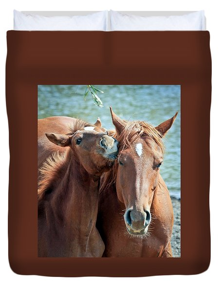 Mommy And Me Duvet Cover by Athena Mckinzie