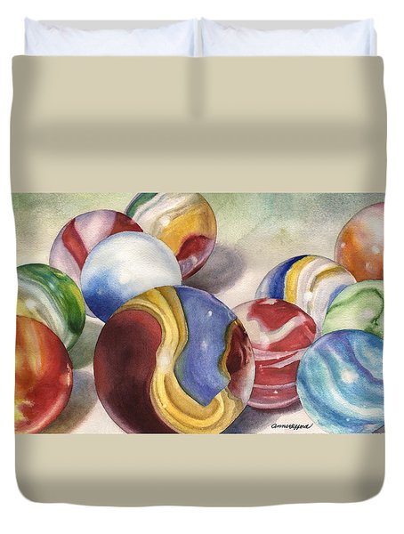 Mom's Marble Shooter Duvet Cover