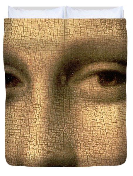 Mona Lisa    Detail Duvet Cover by Leonardo Da Vinci