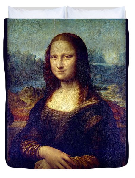 Mona Lisa Duvet Cover by Karon Melillo DeVega
