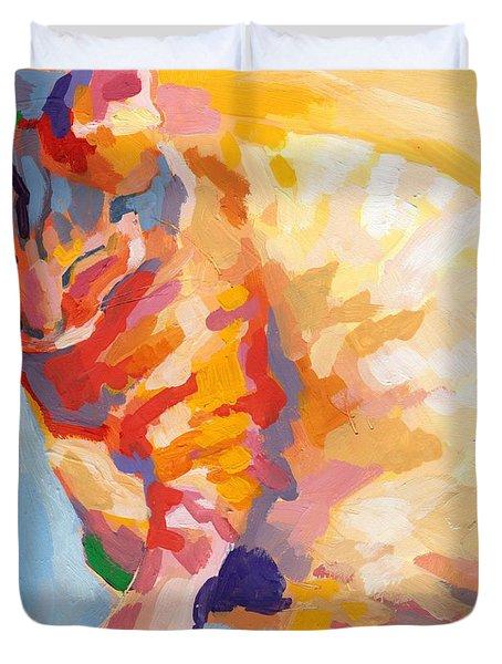 Mona Lisa's Rainbow Duvet Cover by Kimberly Santini