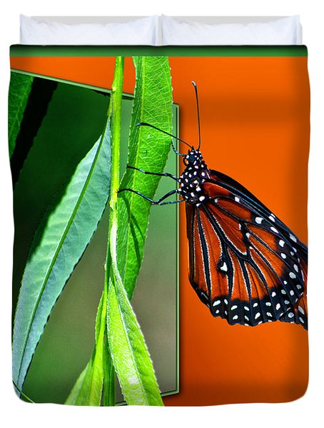 Monarch Butterfly 01 Duvet Cover by Thomas Woolworth