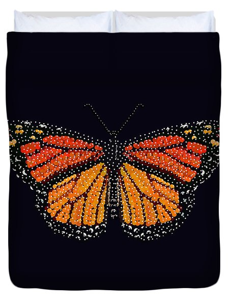 Monarch Butterfly Bedazzled Duvet Cover