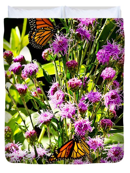 Monarch Butterfly Couple Duvet Cover