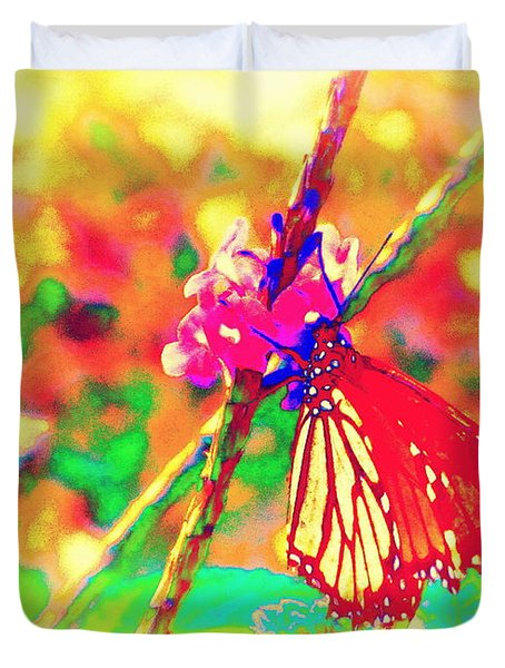 Monarch Butterfly  Duvet Cover by David Mckinney