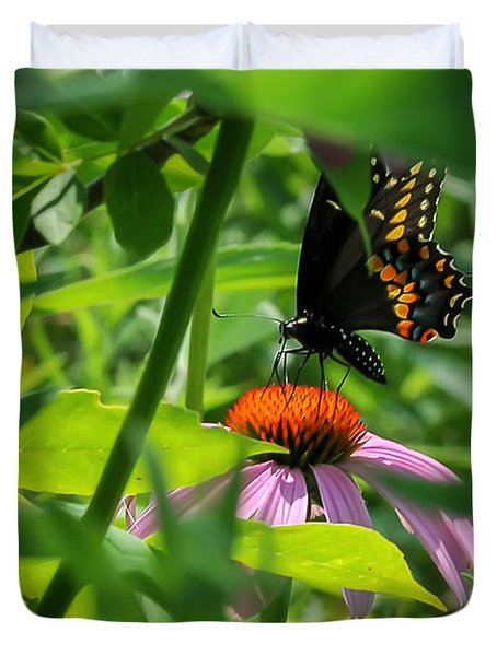 Monarch Butterfly Deep In The Jungle Duvet Cover