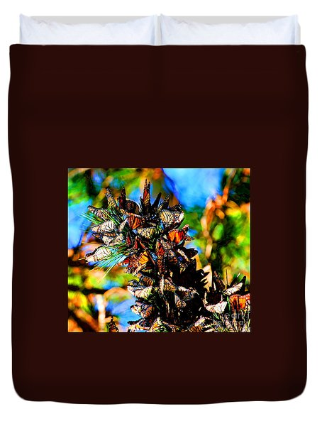 Monarch Butterfly Migration Duvet Cover by Tap On Photo