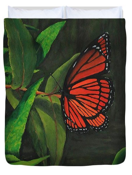 Viceroy Butterfly Oil Painting Duvet Cover