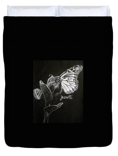 Monarch Butterfly On Milkweed Duvet Cover
