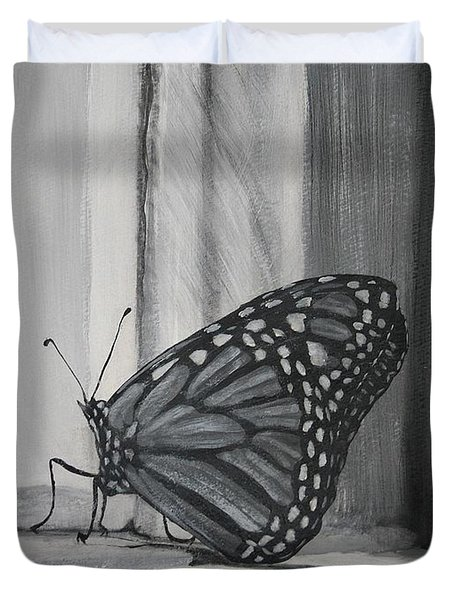 Monarch In The Window Duvet Cover