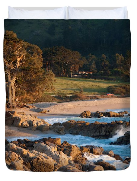 Monastery Beach In Carmel California Duvet Cover
