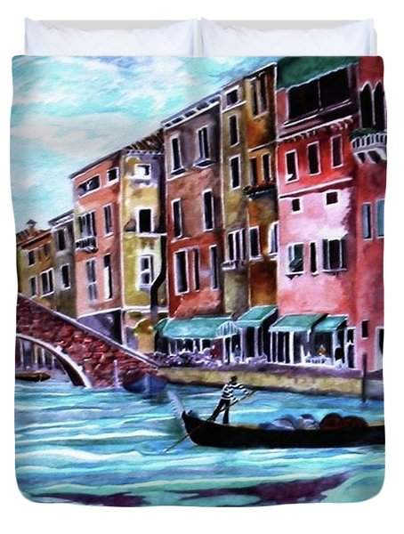 Monday In Venice Duvet Cover