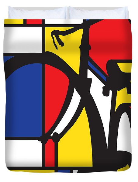 Mondrian Bike Duvet Cover