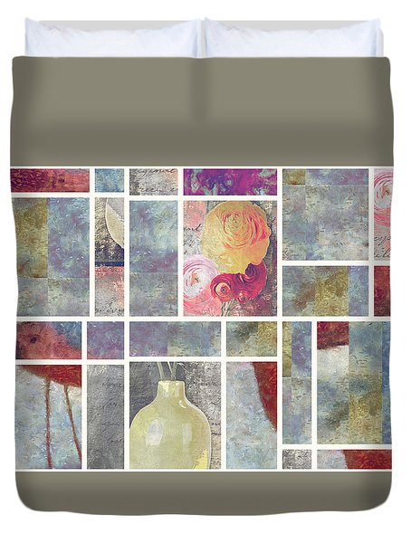 Mondrianity - 08a Duvet Cover by Variance Collections
