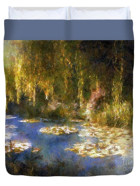 Monet After Midnight Duvet Cover by RC deWinter