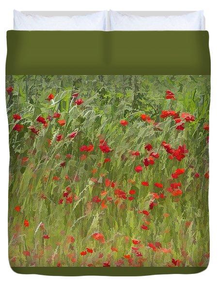 Monet Poppies IIi Duvet Cover