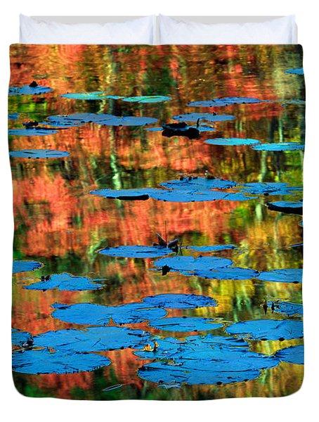 Monet Reflection Duvet Cover by Inge Johnsson