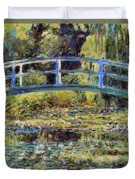 Monet's Bridge Duvet Cover