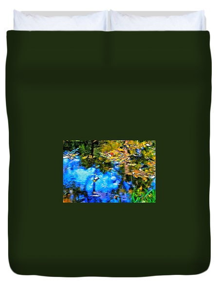 Duvet Cover featuring the photograph Monet's Garden by Ira Shander