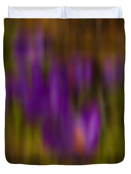 Duvet Cover featuring the photograph Monet's Garden by Sandi Mikuse