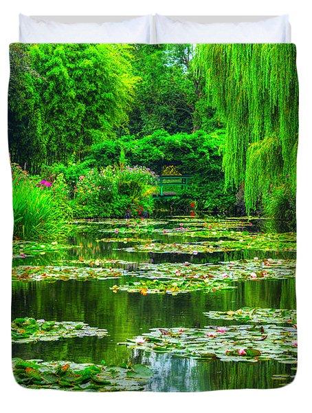 Monet's Lily Pond Duvet Cover