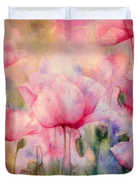 Monet's Poppies Vintage Warmth Duvet Cover