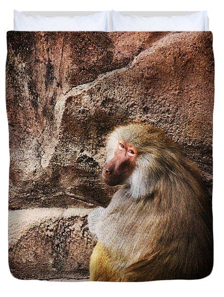 Monkey Business Duvet Cover by Karol Livote