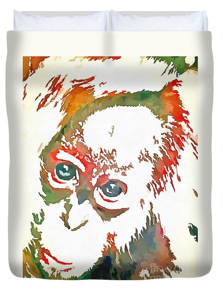 Monkey Pop Art Duvet Cover
