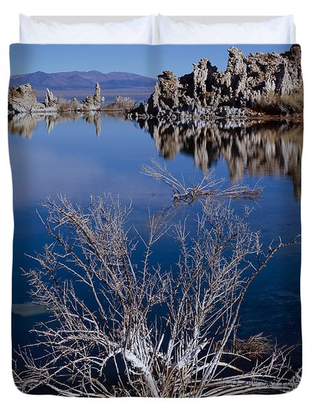 Mono Lake Salt Bush Duvet Cover