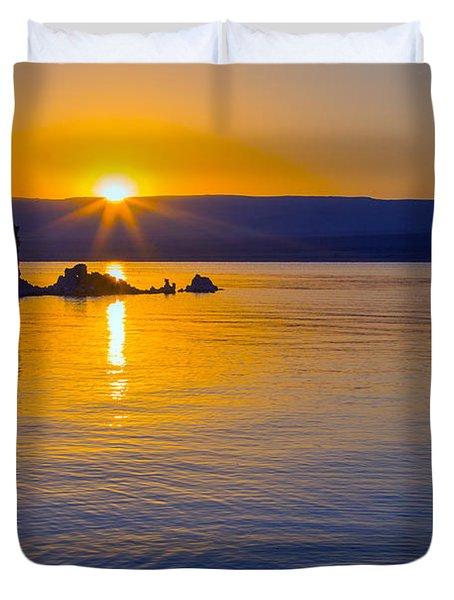 Mono Lake Sunrise Duvet Cover