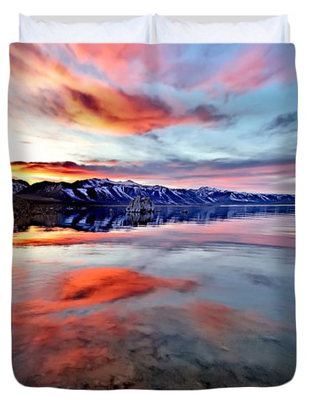 Mono Lake Sunset 2 Duvet Cover