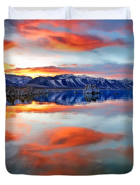 Mono Lake Sunset 3 Duvet Cover