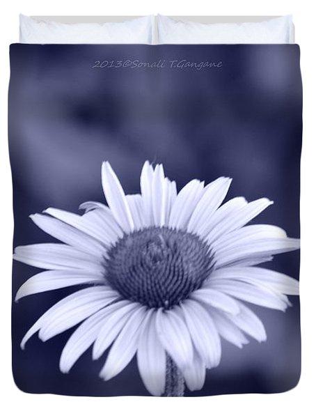 Monochrome Aster Duvet Cover by Sonali Gangane