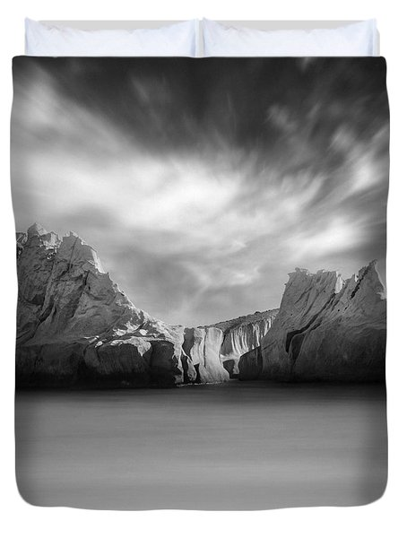 Monochrome Days Duvet Cover by Taylan Apukovska