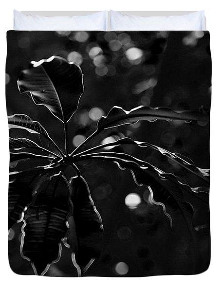 Monochrome Leaf  Duvet Cover by Nicholas Burningham