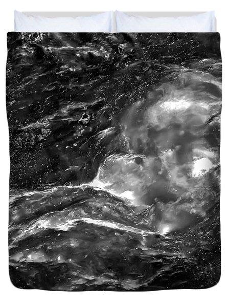 Monochrome Sea Duvet Cover by  Onyonet  Photo Studios