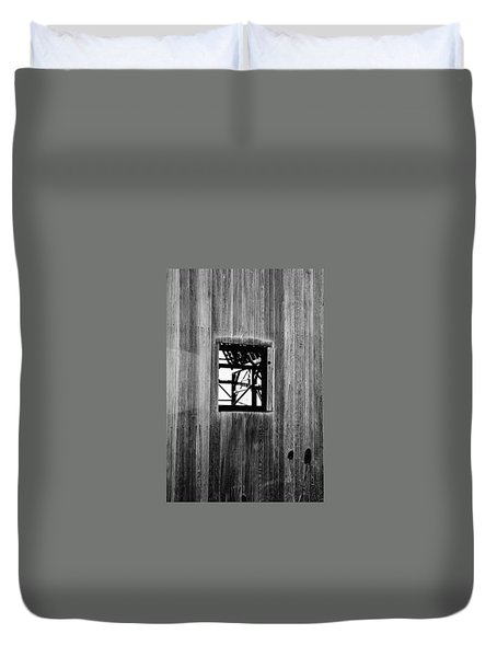 Duvet Cover featuring the photograph Monroe Co. Michigan Barn Window by Daniel Thompson