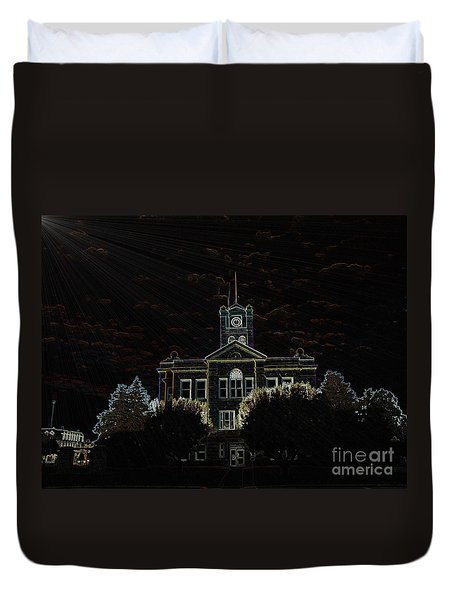 Monroe County Courthouse Duvet Cover