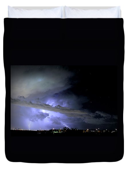 Monsoon Lightning Duvet Cover