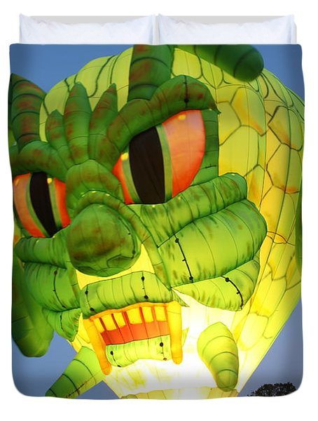 Monster Balloon Duvet Cover by Richard Engelbrecht